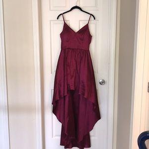 B. Darlin Wine Red High-Low Dress